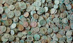 The Frome Hoard - found in 2010 - a total of 52,500 bronze and silver coins dating from the 3rd century AD – including the largest ever found set of coins minted by the self proclaimed emperor Carausius.