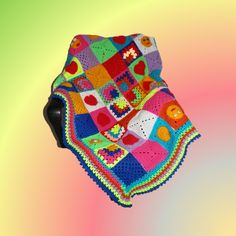 CAL bunte Baby decke - Made by Hany Bunt, About Me Blog, Blanket, Crochet, Creative Ideas, Crocheted Blankets, Mantas Crochet, Culture, Pillows