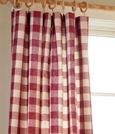 Buffalo Check Rod Pocket Curtains