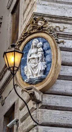 A madonelle on street corner in Rome.....I saw this!!!!