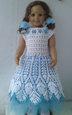This Pin was discovered by ОЛЬ Crochet Wedding Dress Pattern, Crochet Dress Girl, Crochet Wedding Dresses, Wedding Dress Patterns, Crochet Girls, Crochet For Kids, Freestanding Lace Embroidery, Lace Christening Gowns, Gilet Crochet