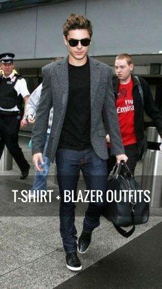 T-shirt + Blazer Outfit Ideas For Men | How To Wear T-shirt & Blazer — MEN'S FASHION LAB