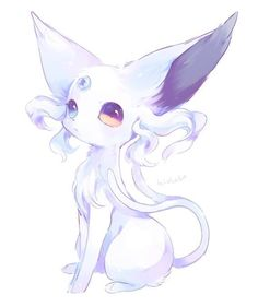 Elegant Espeon- so graceful and poised! – Elegant Espeon- so graceful and poised! Pet Anime, Anime Animals, Anime Chibi, Cute Fantasy Creatures, Mythical Creatures Art, Cute Creatures, Cute Kawaii Drawings, Cute Animal Drawings, Evoluções Eevee