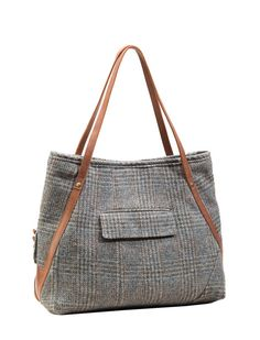 The Vivien - A Tote Made from a Sport Coat - Evon Cassier