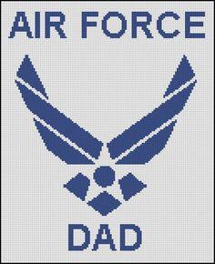 AIR FORCE DAD cross stitch pattern No.561 by glenniz on Etsy, $4.99