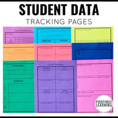 Set up data binders - pick and choose over 225 pages! Focused on K-2 content skills, behavior, and goal setting. From Positively Learning #datatracking #studentdata #datacollection