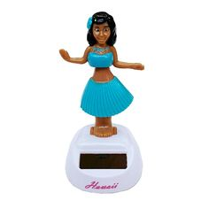Solar Powered Hula Girl Dashboard Doll - Blue from hilohattie.com