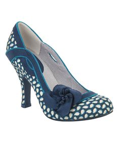 Look at this #zulilyfind! Blue Floral Issy Pump by Ruby Shoo #zulilyfinds