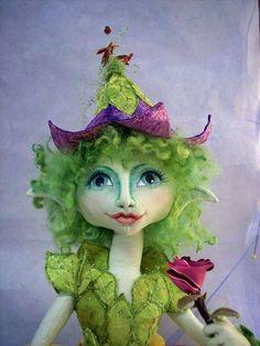Items similar to Elvin Flora on Etsy Doll Clothes Patterns, Doll Patterns, Diy Ooak Doll, Fairy Dolls, Dolls Dolls, Spirited Art, Doll Stands, Soft Dolls, Doll Crafts