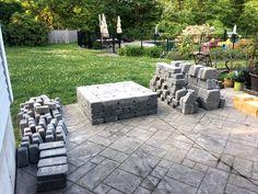 outdoor fireplace cheap DIY Outdoor Fireplace Kit Transforms Your Backyard Seating Area Backyard Seating, Small Backyard Patio, Backyard Patio Designs, Backyard Landscaping, Outdoor Seating, Patio Ideas, Inexpensive Backyard Ideas, Stone Patio Designs, Stone Backyard
