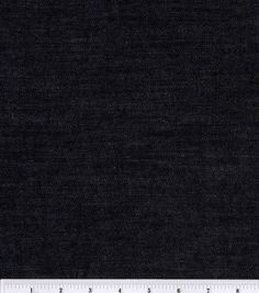 Sew Classic Denim Fabric Black StretchSew Classic Denim Fabric Black Stretch, Black color Width: 52 inches Content: 99% cotton and 1% spandex Care: Machine wash cool delicate, No chlorine bleach, Line dry, Iron wrong Side only and Steam only