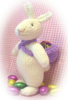 Sewing Toys Knitting Pattern for Eggbert the Easter Bunny - Tea Cosy Knitting Pattern, Tea Cosy Pattern, Animal Knitting Patterns, Free Knitting, Baby Knitting, Knitting Toys, Knitted Bunnies, Knitted Animals, Knitted Dolls