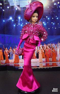 Ninimomo's Barbie.  Americas (North, Central, South).  2009/2010  Miss Argentina (Dress Dior)