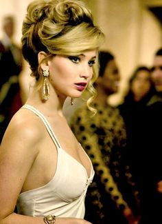 Jennifer Lawrence in American Hustle (2013) @Lexi Brazelton, this would work for winter formal, just swap in red lip