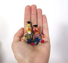 Micro Crochet Bert and Ernie Sesame Street Amigurumi