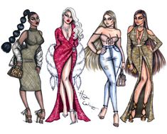 Body Con, Excess Glamour, Casual Chic & Golden Glow by Hayden Williams