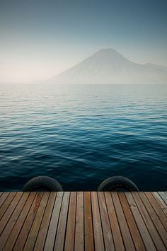 Lake Atitlán in the Guatemalan Highlands. Atitlan is recognized to be the deepest lake in Central America with maximum depth about 340 meters.