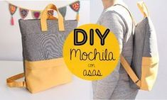 Video Tutorial como hacer esta mochila con bolsillo,forro y asas. Backpack Tutorial, Backpack Pattern, Diy Tote Bag, Tote Backpack, Diy Upcycled Denim Backpack, Mochila Tutorial, Old Jeans Recycle, Diy Sac, Diy Bags Purses