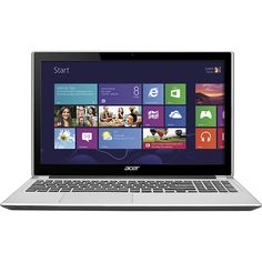 """Acer - Aspire 15.6"""" Touch-Screen Laptop - 4GB Memory - 500GB Hard Drive - Silky Silver"""