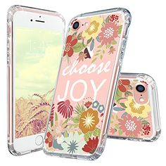 Mosnovo Floral with Quote iPhone 7 Case Collection ☞ http://amzn.to/2eOC408  #Mosnovo
