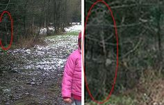 Ghost Photo: Taken while John Wilson was out walking with his children and dog, the image contains a strange figure in the trees. Some say the figure is simply a mixture of shadows, leaves and branches but it looks like a ghost to me!