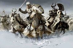 Тевтонские рыцари в атаке. Ледовое  побоище 1242  The Teutonic knights in the attack. The battle of the ice 1242