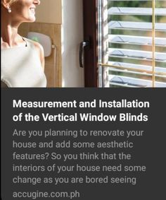 Measurement and Installation of the Vertical Window Blinds Clean Window Blinds, Vertical Window Blinds, Blinds For Windows, Motorized Blinds, Blinds Online, Buy Windows, Fabric Blinds, Aesthetic Design, Window Frames