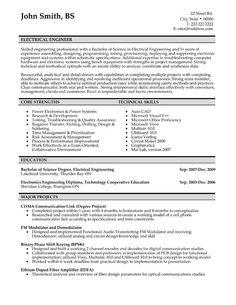 Engineer Resume Templates Samples