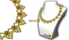 Learn to make beautiful beaded necklace with 3d tutorial by ViPBiser