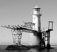 The Roman Rock Lighthouse, near Simon's Town Cape Colony, Beacon Of Hope, Old Photos, Vintage Photos, Cape Town, All Over The World, Lighthouse, Cast Iron, South Africa