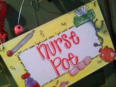 Hand personalized nurse sign so cute for school nurse or nurses office Nurse Office Decor, School Nurse Office, School Nursing, Burlap Signs, Wooden Signs, Teacher Signs, School Decorations, Christening Gifts, Painted Signs