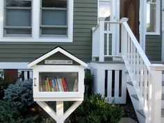 Little Free Library - community books to share with neighbors.  Such a fun idea.I really want to do this in our new home.