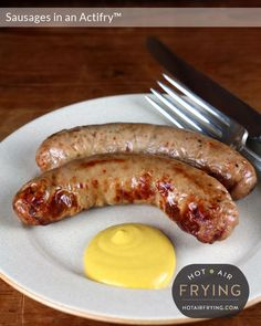 sausages-in-an-actifry 20 mins Cooker Recipes, Crockpot Recipes, Easy Recipes, Power Air Fryer Recipes, Healthy Cooking, Healthy Eating, Air Fried Food, Air Frier Recipes, Air Frying