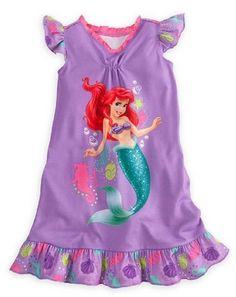 Disney Store Girls Princess Ariel Nightgown Nightshirt: Little Mermaid Sleepwear (Size Small 5/6) Disney http://www.amazon.com/dp/B00D9YRFB6/ref=cm_sw_r_pi_dp_FaUKtb1KDH31N7VX