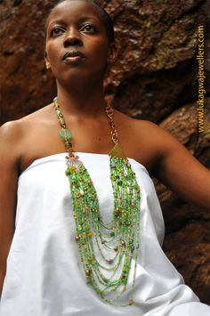 Lime Green African Masai Beaded necklace-Chunky Handmade necklace-Statement African Necklace-Elegant African Jewelry