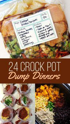 24 Dump Dinners You Can Make In A Crock-Pot 24 Dump Dinners You Can Make In A Crock-Pot,!BEST Slow Cooker, Crockpot and Instant Pot Recipes! 24 Crock Pot Dump Dinners pot meals dinner recipes for family recipes pot recipes easy cooker recipes Crock Pot Food, Crockpot Dishes, Crock Pot Slow Cooker, Crock Pot Freezer, Crock Pot Dump Meals, Clean Eating Crock Pot Meals, Cheap Crock Pot Meals, Cheap Easy Dinners, Crock Pot Chicken