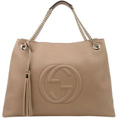 GUCCI Large Leather Soho Chain Tote ($1,800) ❤ liked on Polyvore
