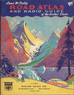 Vintage road atlas