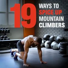 """2,878 Likes, 106 Comments - BJ Gaddour (@bjgaddour) on Instagram: """"19 WAYS TO SPICE UP MOUNTAIN CLIMBERS! 🔥💦💪 Stay tuned for the full video at MensHealth.com with…"""""""
