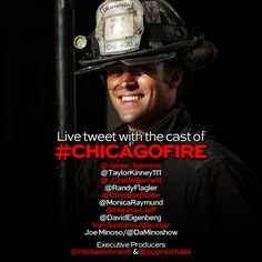 Our cast and Executive Producers are live tweeting #ChicagoFire tonight!