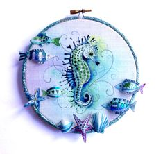 Here's a new one, a beautiful Seahorse sewing pattern.