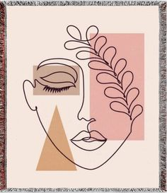 Small Canvas Art, Mini Canvas Art, Doodle Art, Contemporary Tapestries, Abstract Face Art, Arte Pop, Art Drawings Sketches, Figurative Art, Face Line Drawing