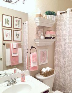 bathroom decor ideas colors \ bathroom decor + bathroom decor ideas + bathroom decor apartment + bathroom decor ideas colors + bathroom decor ideas on a budget + bathroom decor modern + bathroom decor ideas small + bathroom decor ideas themes Pink Bathroom Decor, Small Bathroom, Girl Bathroom Ideas, Boho Bathroom, Teenage Bathroom Ideas, Small Elegant Bathroom, Master Bathroom, College Bathroom Decor, Funny Bathroom Decor
