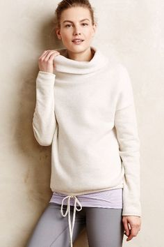 Cowled Fleece Pullover - anthropologie.com