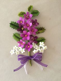 İ Nylon Flowers, Lilac Flowers, Felt Flowers, Fabric Flowers, Paper Flowers, Hand Embroidery Designs, Ribbon Embroidery, Pearl Wedding Decorations, Wool Felt Fabric