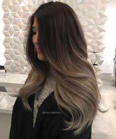 Long+Ash+Brown+Balayage+Hair