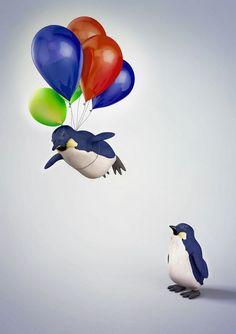 peguin fly