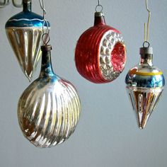 Almost ALL of our ornaments were blown glass, like these.