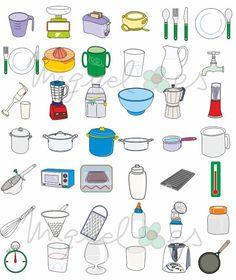 Worksheet. utensilios de cocina dibujos  Buscar con Google  Dulces