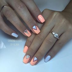 Make an original manicure for Valentine's Day - My Nails May Nails, Hair And Nails, Gelish Nails, Nail Manicure, Yellow Nails, Sky Blue Nails, Toe Nail Designs, Super Nails, Perfect Nails